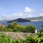 Vistas desde Casa do Covelo a la Ría de Pontevedra y la Isla de Tambo