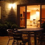 Terraza de noche de Casa do Covelo