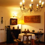Zona de estar en La Casa de Don Alfonso en Cerdedo, Pontevedra