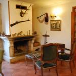 Zona de chimenea de La Casa de Don Alfonso en Cerdedo, Pontevedra