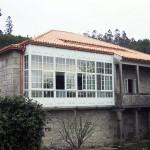 Fachada trasera de La Casa de Don Alfonso en Cerdedo, Pontevedra