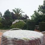 Jardín y terraza de Casa do Caeiro