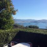 Vistas de la Ría de Pontevedra y las bateas desde la Casa de Tambo