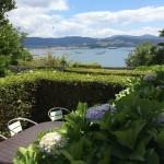 Vistas de la Ría de Pontevedra, las bateas y la Isla de Tambo desde la Casa de Tambo