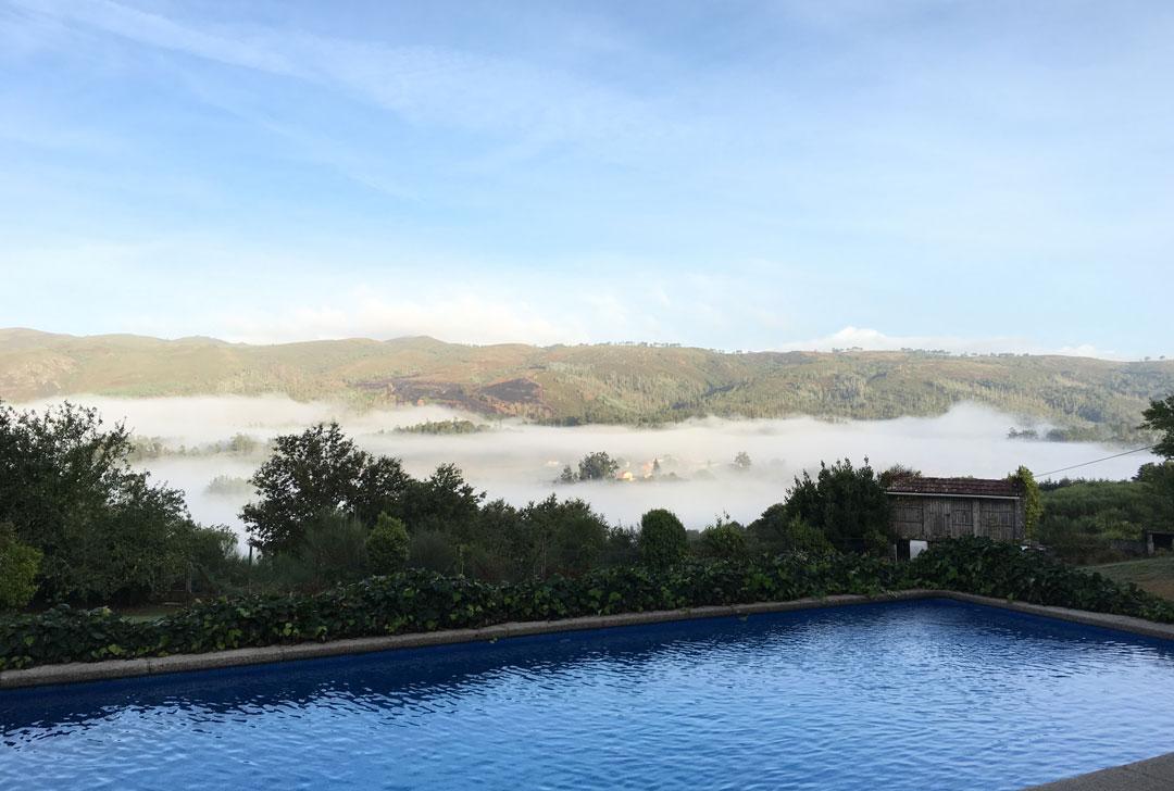 Amanecer en casa rural de Pontevedra